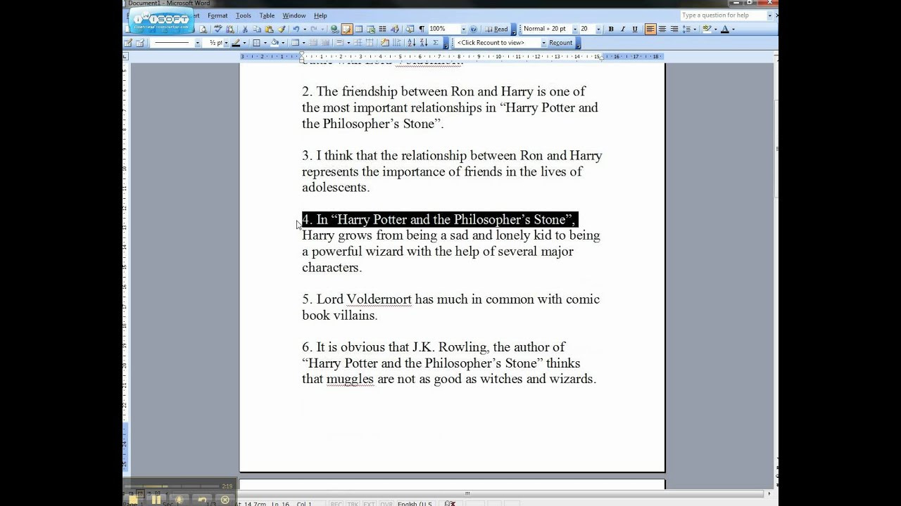 thesis statement good examples