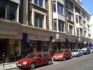 Savile Row, a shopping street in London