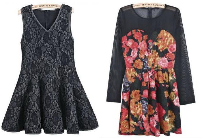 vestido negro sheinside