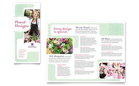 Flower Shop Flyer & Ad Template   Word & Publisher