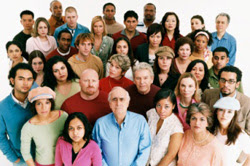 Photo of a crowd of diverse people