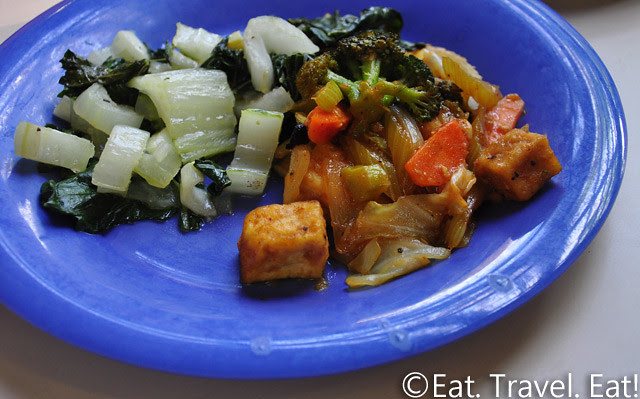 UC Irvine Pippin Commons- Irvine, CA: Stir Fried Tofu and Bok Choy