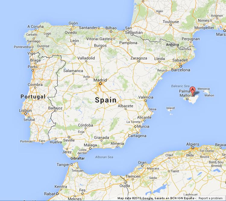 Map Of Spain Majorca.Top 10 Punto Medio Noticias Majorca Spain Map