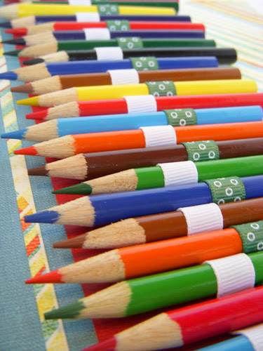 CMW close up of colored pencils