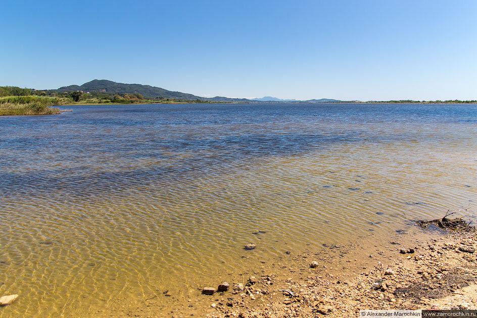 Озеро Кориссион. Греция, остров Корфу.