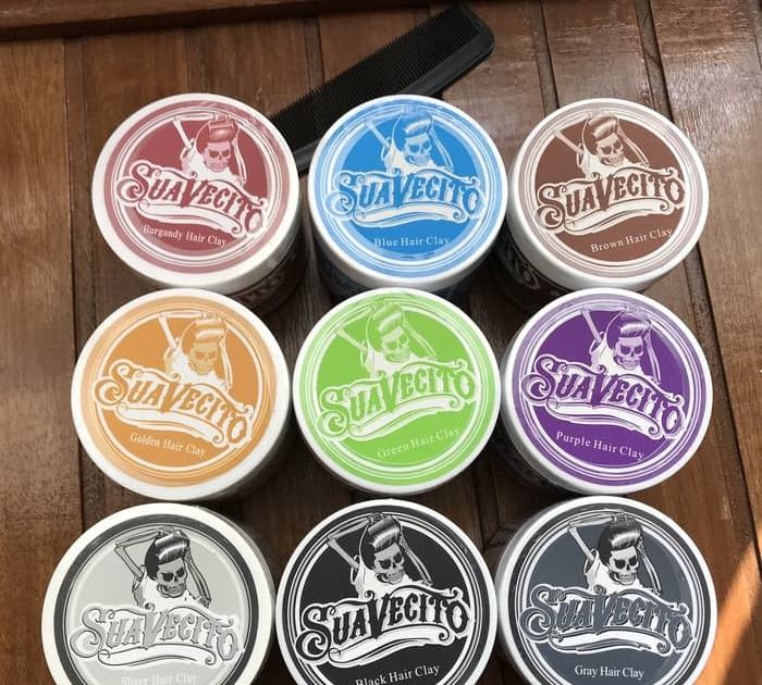 best website 83a2f f3f0c HEMAT POMADE WARNA SUAVECITO HAIR CLAY COLOUR PEWARNA RAMBUT TEMPORARY MIK3