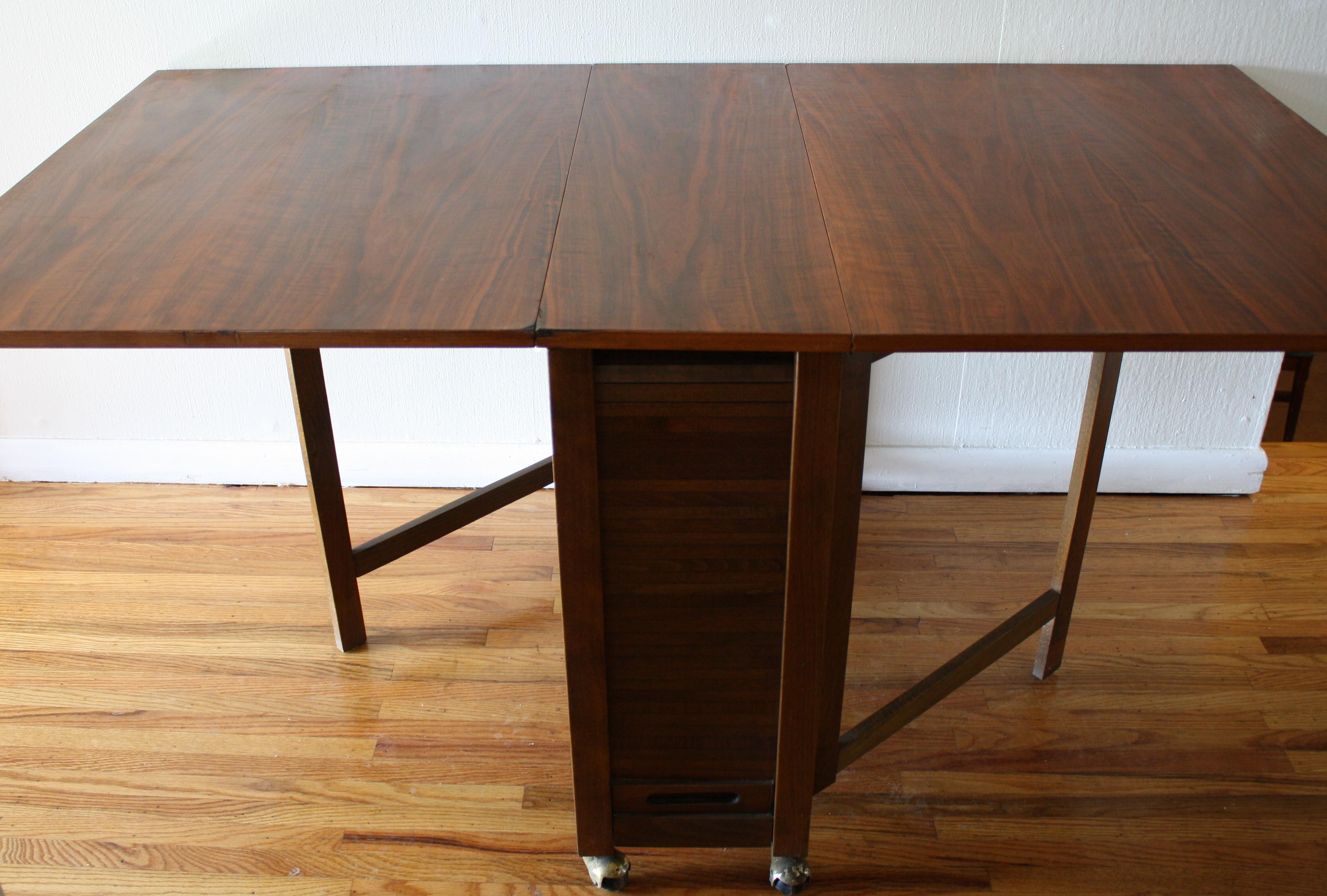 Vintage Danish Gateleg Dining Table   Picked Vintage