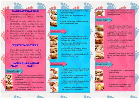 kesehatan contoh leaflet   pijat bayi
