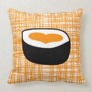 Orange Sushi Pop Pillow throwpillow