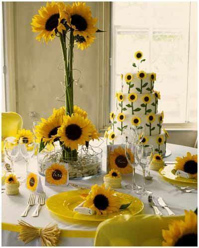 international fashion: Sunflower themed wedding
