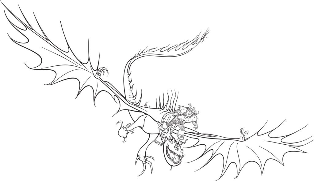 ausmalbild dragons ohnezahn  cartoonbild