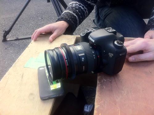 Canon 7D on an iPhone