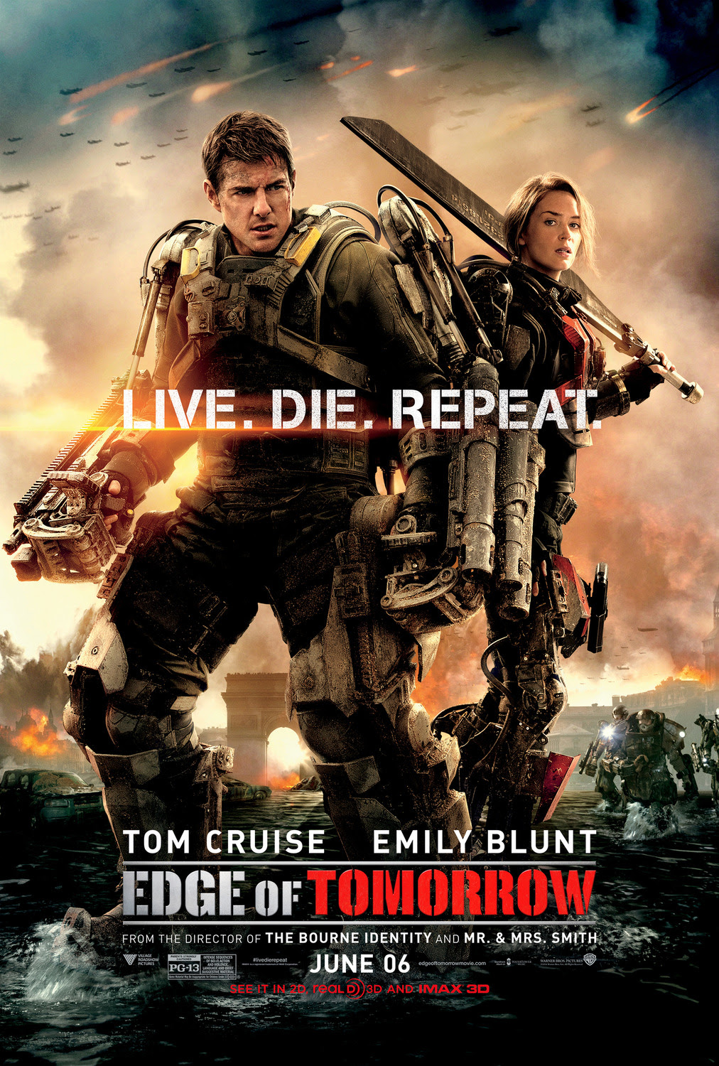 Extra Large Movie Poster Image for Edge of Tomorrow