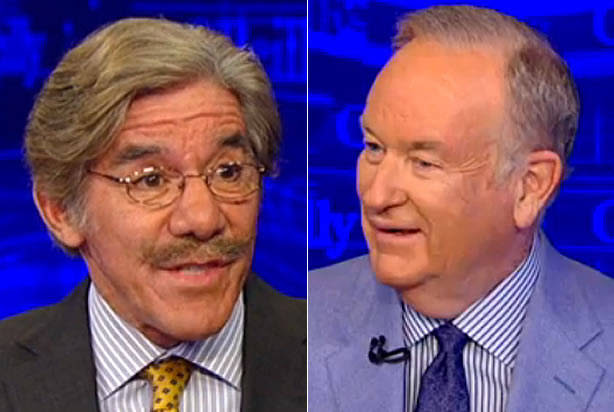 "WATCH: Geraldo Rivera and Bill O'Reilly spar over Trump's ""borderline treasonous"" comments about Hillary and Bill Clinton"