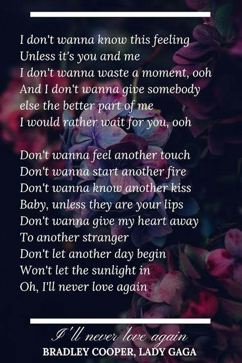 A Star Is Born Lyrics I Ll Never Love Again