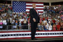Trump holds campaign rally as Hurricane Michael rages