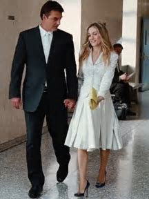 White Wedding Suits   Carrie Bradshaw Wedding Suit   Skirt