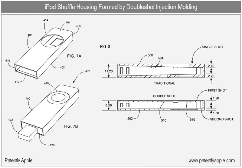 7B is diagram of a finally assembled iPod Shuffle that utilizes the