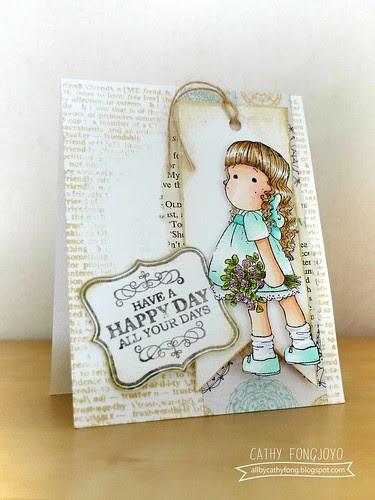 Magnolia Happy day card