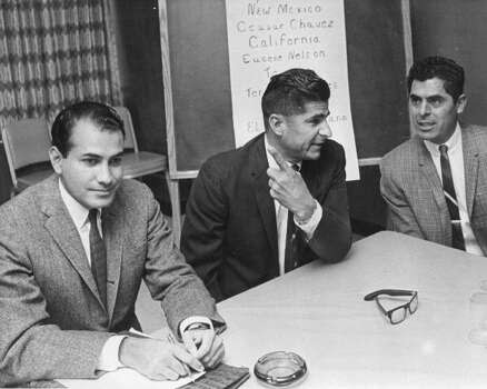 NOVEMBER 1966: Reies Lopez Tijerina of Albuquerque, N.M., in a press conference at the Albany Hotel, said the Spanish-named Americans of the Southwest are of a breed born in 1914. Photo: Cloyd Teter, Getty Images / Denver Post