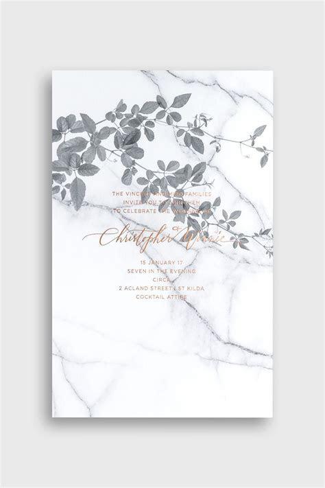 Bliss & Bone / Modern   Romantic Wedding Invitation