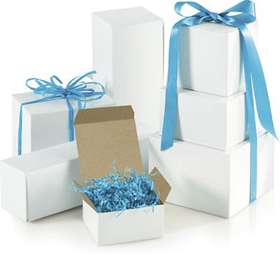 White One-Piece Gift Box Assortment, Various Sizes