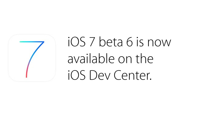 The launch of the sixth beta iOS 7 system