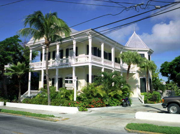 "The ""La Pension Inn"" on Truman Avenue, near ""St. Mary's Star of the Sea"" church, Key West, Florida."