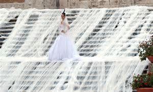 Gianni Molaro wedding dress has longest bridal train in