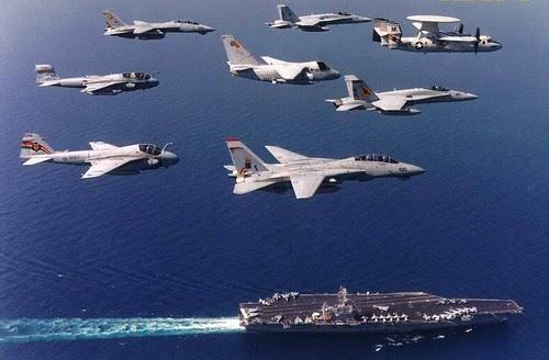 Navy Ship Navy Airplane Wallpaper