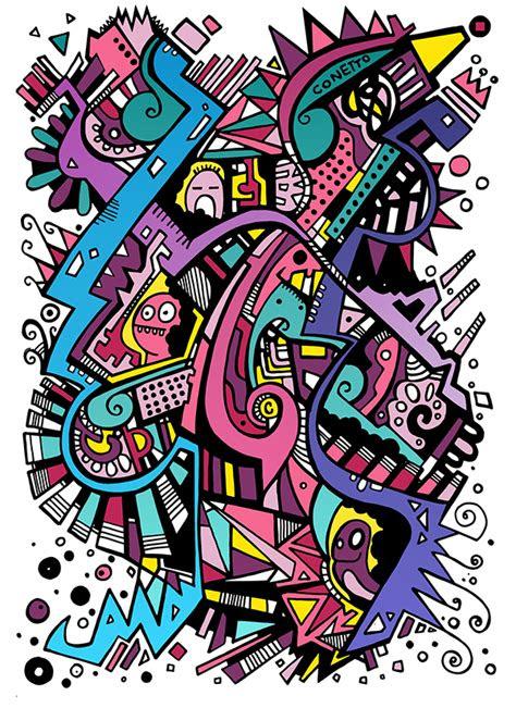 abstrak  behance