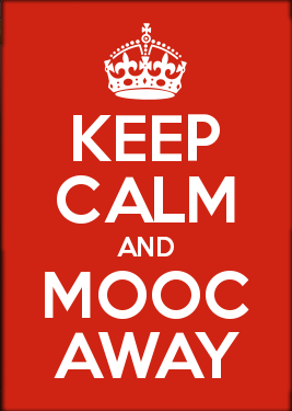 Keep calm and MOOC away poster