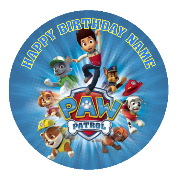 Paw Patrol Edible Cake Topper Viparty