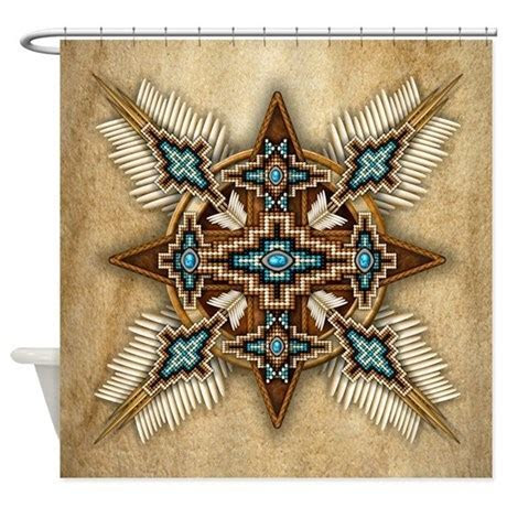 Native American Style Mandala 26 Shower Curtain by