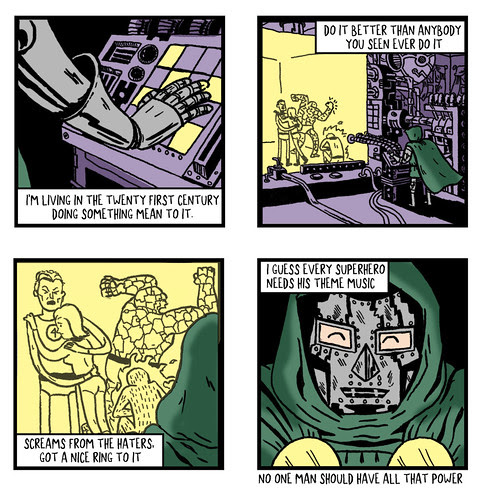 Four Panel Comix:  Dr. Doom Power