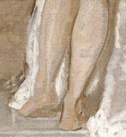 Detalle de Mujer al salir del baño, de Rosales