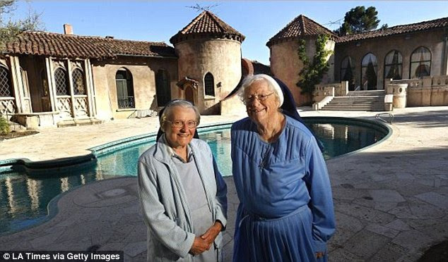 Sister Rose Catherine Holzman, 86, (left) and Sister Rita Callanan, 78, (right) are locked in a battle over who has the right to sell the historic convent where they once lived