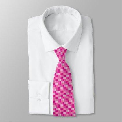 Pink Pixelated Pattern | Gamer Neck Tie