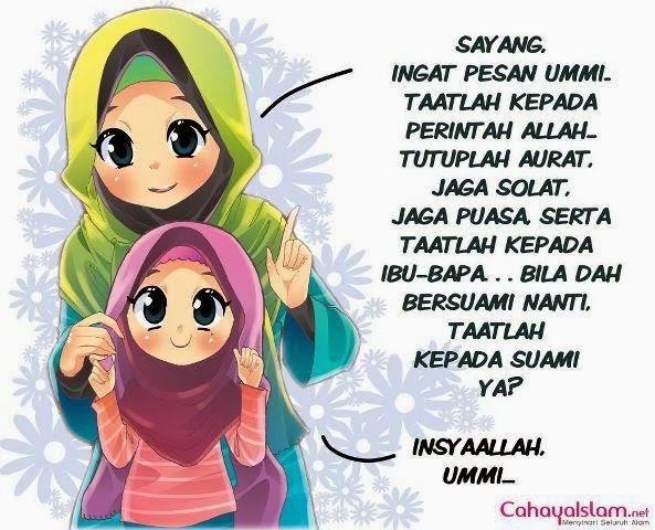 Foto Kartun Muslimah Ibu Dan Anak - Gallery Islami Terbaru