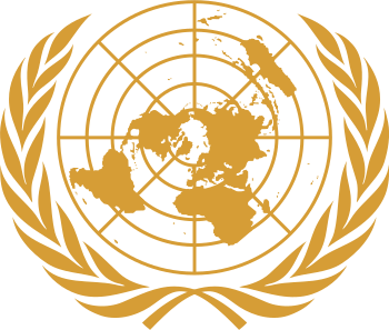 English: Emblem of the United Nations. Color i...