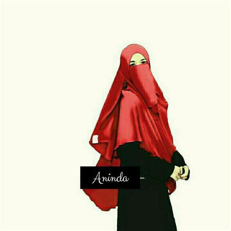 gambar kartun hijab cadar cantik tutorial hijab terbaru