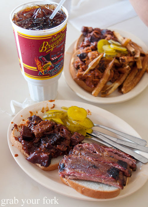 burnt ends Arthur Bryant's beef brisket pork ribs meat smoked barbecue bbq Kansas City Missouri