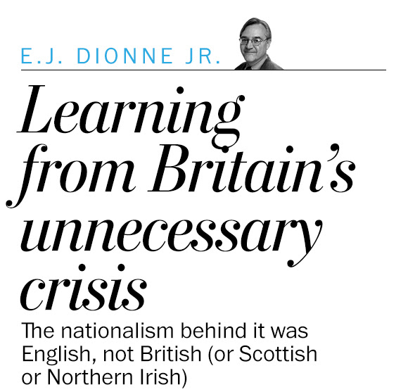 Learning from Britain's unnecessary crisis