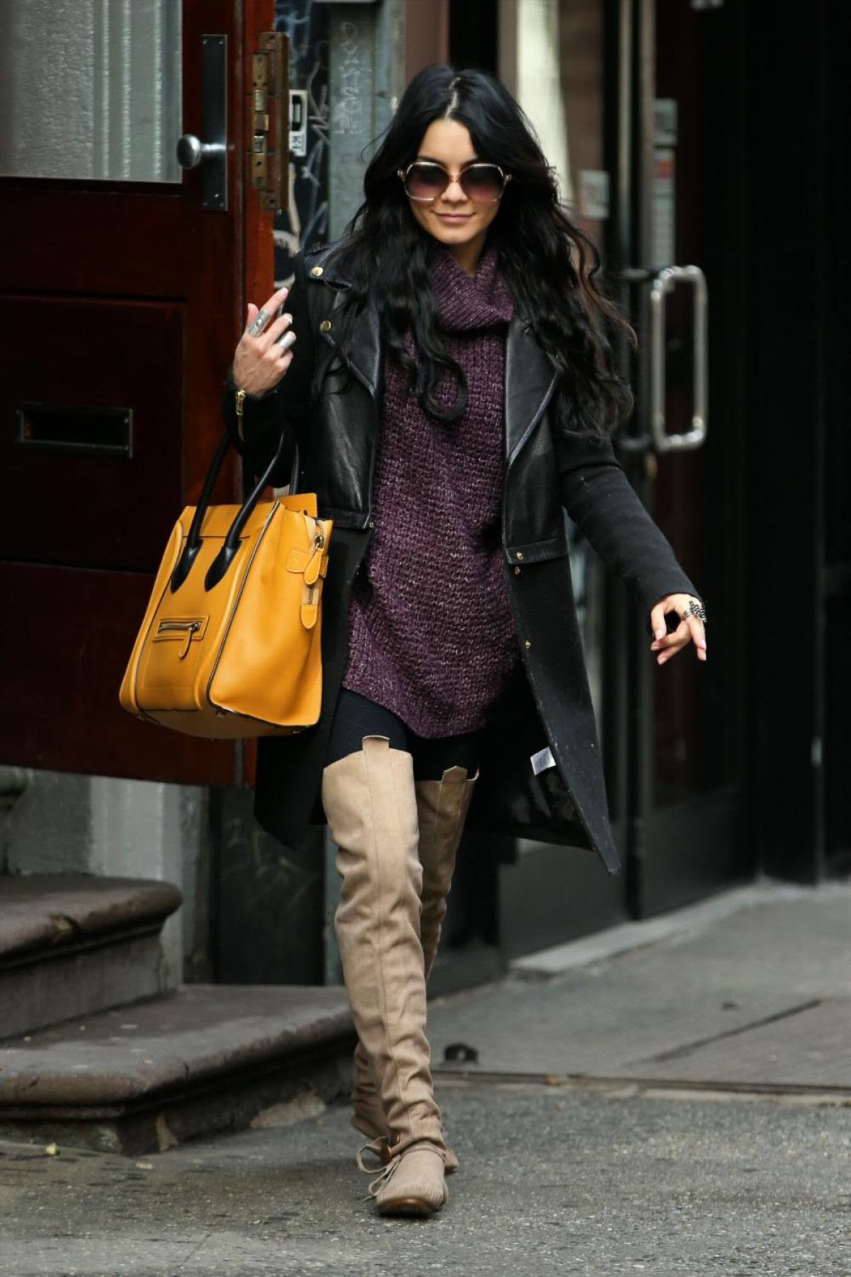 VANESSA HUDGENS Out for Breakfast in New York