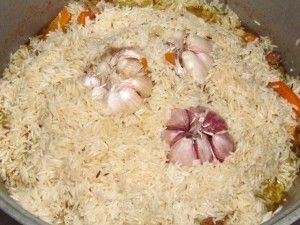 рис готов на половину