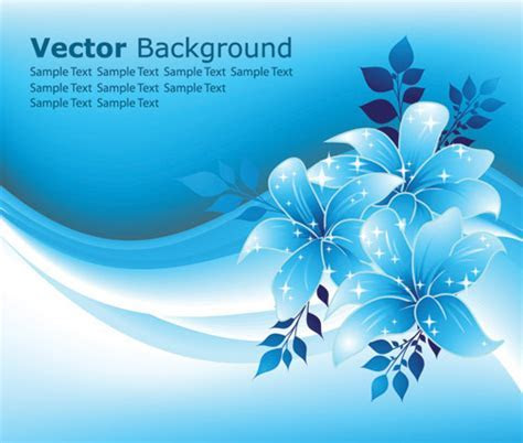 Beautiful blue flowers (20911) Free EPS Download / 4 Vector