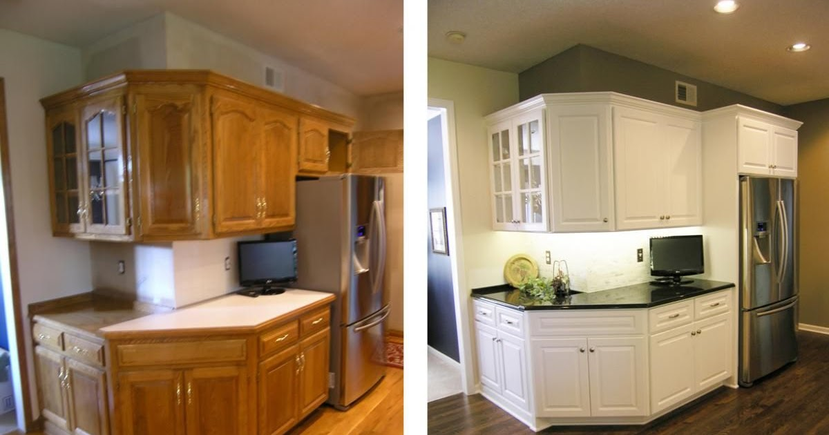 Idea 21+ Refinishing Oak Kitchen Cabinets