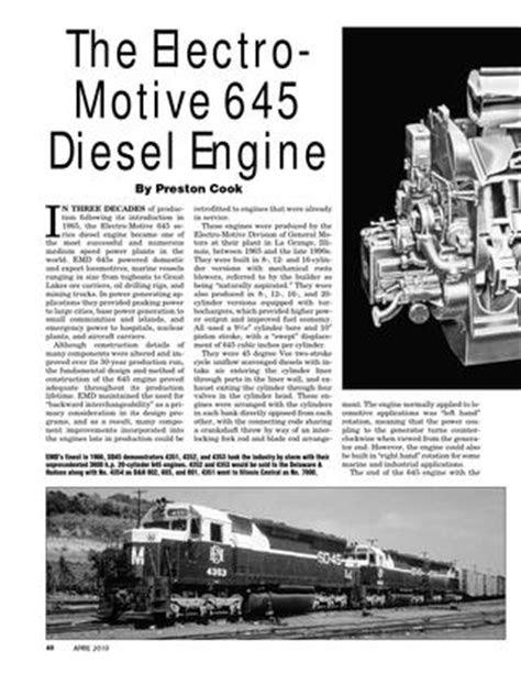 ISSUU - Electro Motive 645 Diesel Engine by Philip Hom