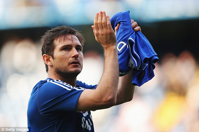 Tearful goodbye: Chelsea icon Frank Lampard is set to sign for Premier League rivals Manchester City on loan