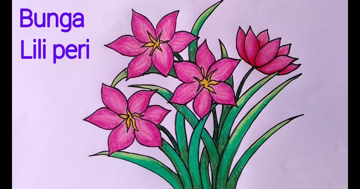 gambar mewarnai bunga kertas